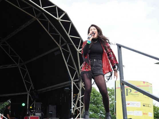 Singing at the London Barrio Fiesta – 17th July 2016